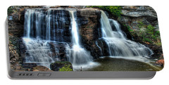 Portable Battery Charger featuring the photograph Black Water Falls by Mark Dodd
