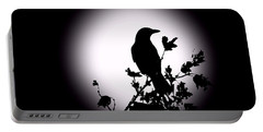 Blackbird In Silhouette  Portable Battery Charger by David Dehner