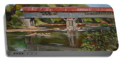 Blair Bridge Campton New Hampshire Portable Battery Charger by Nancy Griswold