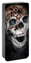 Bloody Skull Portable Battery Charger by Joana Kruse
