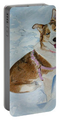 Blue - Siberian Husky Dog Painting Portable Battery Charger