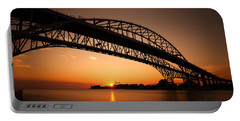Portable Battery Charger featuring the photograph Blue Dawn by Gordon Dean II