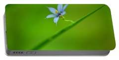 Portable Battery Charger featuring the photograph Blue-eyed Grass by JD Grimes