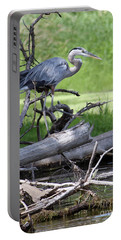 Blue Heron At The Lake Portable Battery Charger
