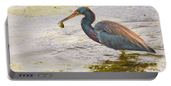 Blue Heron Catch Portable Battery Charger