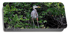 Portable Battery Charger featuring the photograph Blue Heron In Tree by Dan Friend