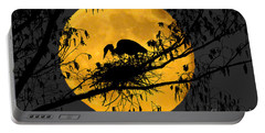 Portable Battery Charger featuring the photograph Blue Heron On Roost by Dan Friend