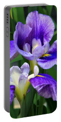 Blue Irises Portable Battery Charger