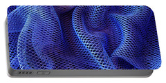 Blue Net Background Portable Battery Charger
