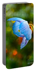 Blue Poppy Dreams Portable Battery Charger by Byron Varvarigos