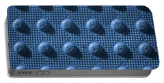 Blue Repeat Knob Pattern Portable Battery Charger