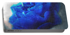 Portable Battery Charger featuring the digital art Blue Rose by Debbie Portwood