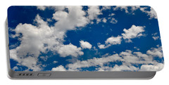 Blue Sky And Clouds Portable Battery Charger