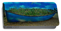 Portable Battery Charger featuring the photograph Blue Sky Boat  by Chris Lord