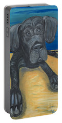 Blue The Great Dane Pup Portable Battery Charger