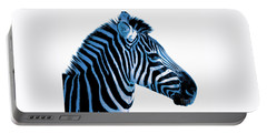 Blue Zebra Art Portable Battery Charger