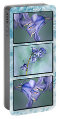 Portable Battery Charger featuring the photograph Bluebell Triptych by Steve Purnell