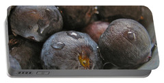 Blueberries  Portable Battery Charger by Bill Owen