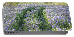 Portable Battery Charger featuring the photograph Bluebonnet Trail by Donna  Smith