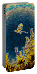 Bluejay Gone Wild Portable Battery Charger by Trish Tritz