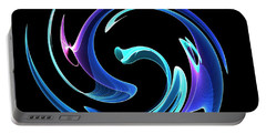 Portable Battery Charger featuring the digital art Dancing Blues by Maciek Froncisz