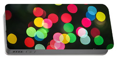 Blurred Christmas Lights Portable Battery Charger