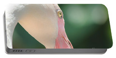 Blushing Flamingo Portable Battery Charger by Nola Lee Kelsey