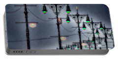 Portable Battery Charger featuring the photograph Boardwalk Lights by Chris Lord
