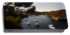 Boats In Cala Figuera Portable Battery Charger