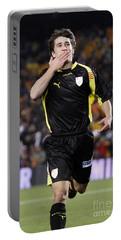 Bojan Krkic Celebrating A Goal 2 Portable Battery Charger