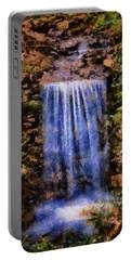 Botanical Garden Falls Portable Battery Charger by Lynne Jenkins
