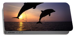 Bottlenose Dolphins Portable Battery Charger by Francois Gohier and Photo Researchers