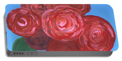 Portable Battery Charger featuring the painting Bouquet Of Roses by Alys Caviness-Gober