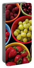 Bowls Of Fruit Portable Battery Charger