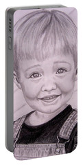 Portable Battery Charger featuring the drawing Brady by Julie Brugh Riffey