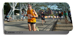 Portable Battery Charger featuring the photograph Bridge Runner by Alice Gipson