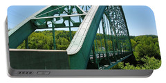 Portable Battery Charger featuring the photograph Bridge Spanning Connecticut River by Sherman Perry
