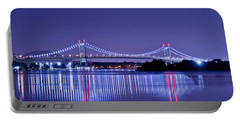 Tri-borough Bridge In Nyc Portable Battery Charger