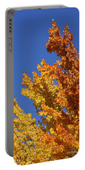Brilliant Fall Color And Deep Blue Sky Portable Battery Charger by Mick Anderson