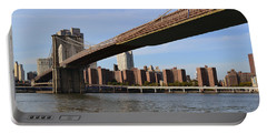 Portable Battery Charger featuring the photograph Brooklyn Bridge1 by Zawhaus Photography