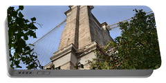 Portable Battery Charger featuring the photograph Brooklyn Bridge2 by Zawhaus Photography