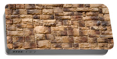 Brown Brick Wall Portable Battery Charger