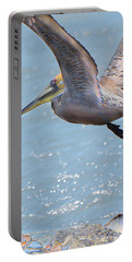 Brown Pelican Portable Battery Charger by Betty LaRue