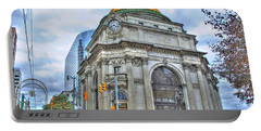 Portable Battery Charger featuring the photograph Buffalo Savings Bank  Goldome  M And T Bank Branch by Michael Frank Jr