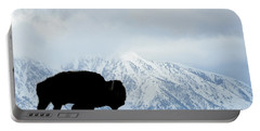 Portable Battery Charger featuring the photograph Buffalo Suvived Another Yellowstone Winter by Dan Friend