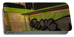 Portable Battery Charger featuring the photograph Building 31 Rimini Beach Graffiti by Andy Prendy