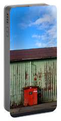Portable Battery Charger featuring the photograph Building Series - Red Shack by Kathleen Grace