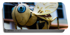 Bumble Bee Of Happiness Metal Sculpture Portable Battery Charger