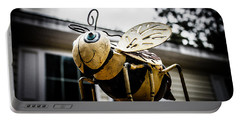 Bumble Bee Of Happiness Metal Statue Portable Battery Charger