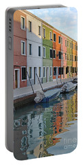 Portable Battery Charger featuring the photograph Burano Canal by Rebecca Margraf